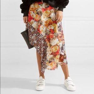 Acne Studios Pamsan asymmetrical floral skirt